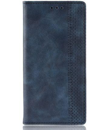 Samsung Galaxy A80 Vintage Portemonnee Hoesje Blauw Hoesjes