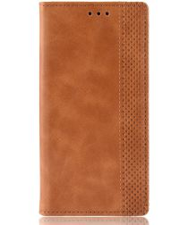 Samsung Galaxy A80 Vintage Portemonnee Hoesje Bruin