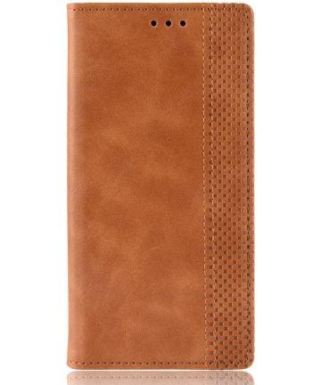 Samsung Galaxy A80 Vintage Portemonnee Hoesje Bruin Hoesjes