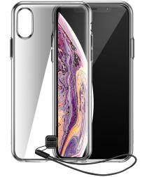 Baseus Apple iPhone XS Max Hybride Hoesje Transparant Zwart