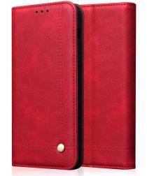 Huawei P20 Lite (2019) Portemonnee Vintage Hoesje Rood