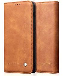 Huawei P20 Lite (2019) Portemonnee Vintage Hoesje Bruin