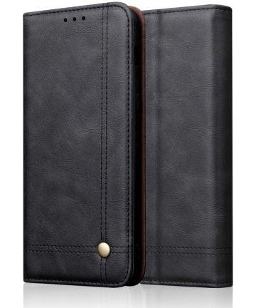 Huawei P Smart Z Portemonnee Vintage Hoesje Zwart Hoesjes