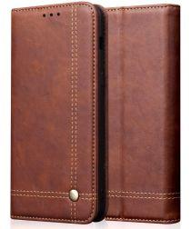 Huawei P Smart Z Portemonnee Vintage Hoesje Donkerbruin