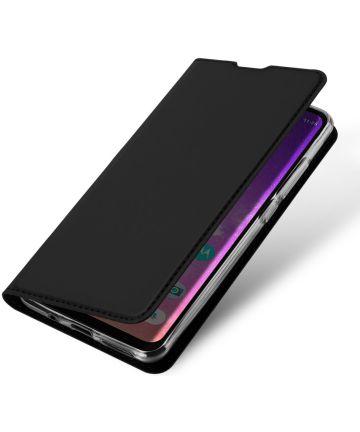 Dux Ducis Motorola One Vision Bookcase Hoesje Zwart Hoesjes