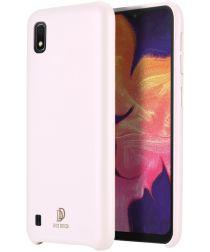 Dux Ducis Skin Lite Kunstleren Coating Hoesje Galaxy A10 Roze