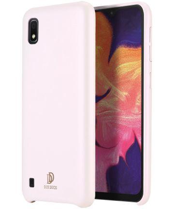 Dux Ducis Skin Lite Kunstleren Coating Hoesje Galaxy A10 Roze Hoesjes