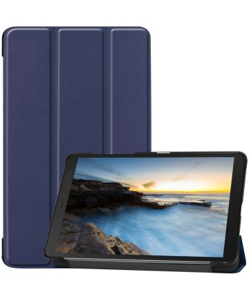 Samsung Galaxy Tab A 8 (2019) Tri-Fold Front Cover Blauw Hoesjes