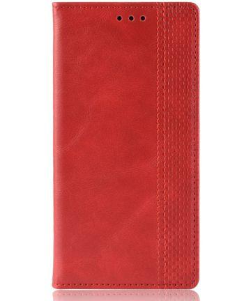 Nokia 2.2 Stijlvol Vintage Portemonnee Hoesje Rood Hoesjes
