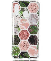 Samsung Galaxy A20E TPU Back Cover met Marmer Print Hexagon