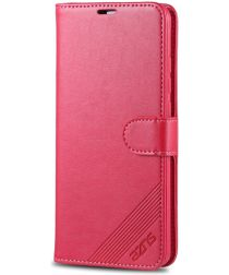 AZNS Xiaomi Mi 9T Portemonnee Stand Hoesje Rood