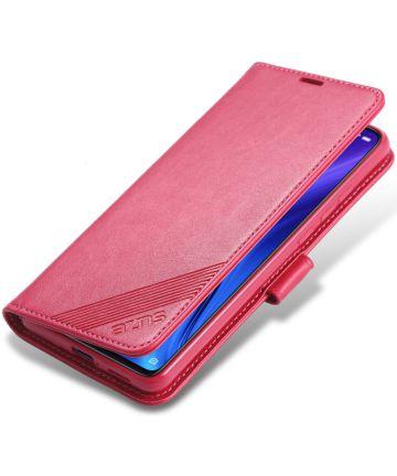 AZNS Xiaomi Mi 9T Portemonnee Stand Hoesje Rood Hoesjes
