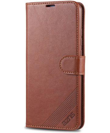 AZNS Xiaomi Mi 9T Portemonnee Stand Hoesje Bruin
