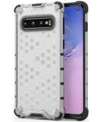 Samsung Galaxy S10 Hybride Honinggraat Hoesje Transparant
