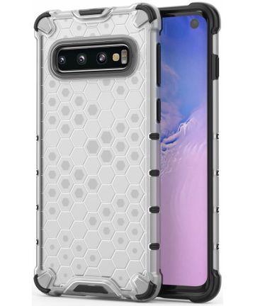 Samsung Galaxy S10 Hybride Honinggraat Hoesje Transparant Hoesjes
