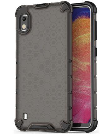 Samsung Galaxy A10 Hybride Honinggraat Hoesje Transparant Zwart Hoesjes