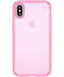 Speck Presidio Apple iPhone X/XS Hoesje Roze Shockproof Glitter