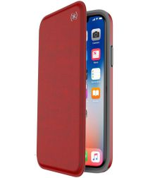 Speck Presidio Apple iPhone X/XS Booklet Hoesje Rood