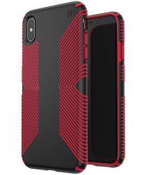 Speck Presidio Apple iPhone XS Max Hoesje Rood Shockproof