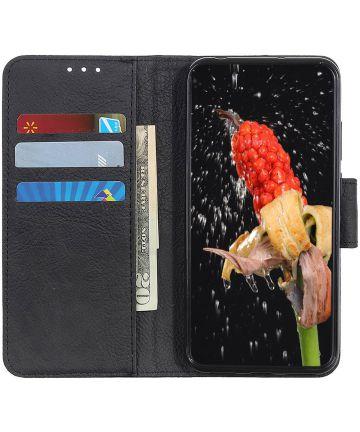 Samsung Galaxy Note 10 Litchi Skin Portemonnee Hoesje Zwart