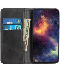 Samsung Galaxy Note 10 Leren Stand Portemonnee Hoesje Zwart