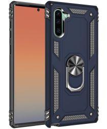 Samsung Galaxy Note 10 Hybride Hoesje met Kickstand Blauw