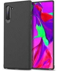 Samsung Galaxy Note 10 Twill Slim Texture Back Cover Zwart