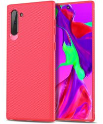 Samsung Galaxy Note 10 Twill Slim Texture Back Cover Rood