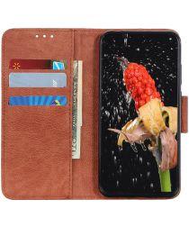 Samsung Galaxy Note 10 Plus Litchi Skin Portemonnee Hoesje Bruin