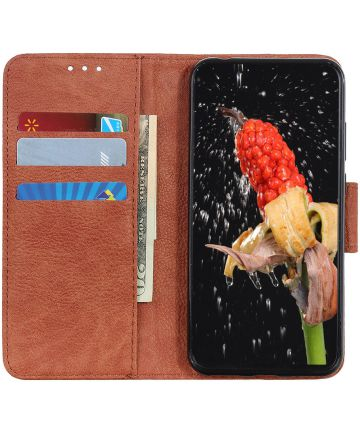 Samsung Galaxy Note 10 Plus Litchi Skin Portemonnee Hoesje Bruin Hoesjes