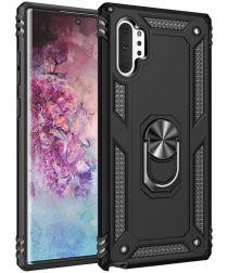 Samsung Galaxy Note 10 Plus Hybride Kickstand Hoesje Zwart