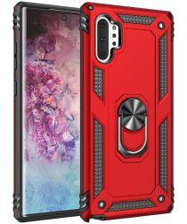 Samsung Galaxy Note 10 Plus Hybride Kickstand Hoesje Rood