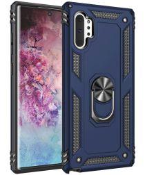 Samsung Galaxy Note 10 Plus Hybride Kickstand Hoesje Blauw