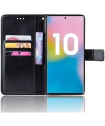 Samsung Galaxy Note 10 Plus Stijlvol Portemonnee Hoesje Zwart