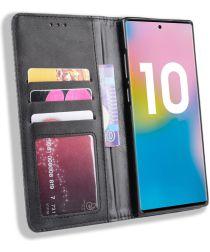 Samsung Galaxy Note 10 Plus Vintage Portemonnee Hoesje Zwart
