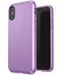 Speck Presidio Metallic Apple iPhone X/XS Hoesje Paars Hardcover