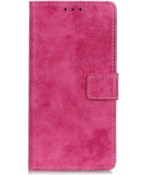 Alcatel 1S (2019) Vintage Portemonnee Hoesje Roze