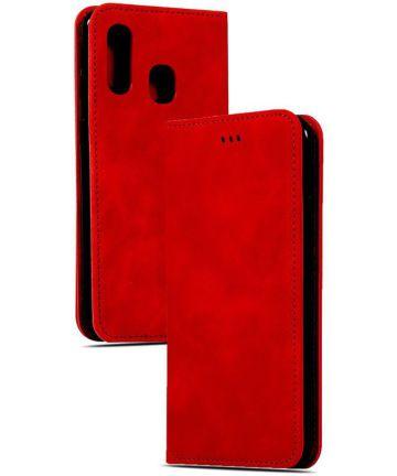 Samsung Galaxy A40 Luxe Portemonnee Hoesje Rood Hoesjes