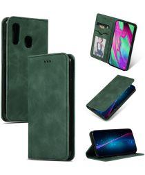 Samsung Galaxy A40 Luxe Portemonnee Hoesje Groen
