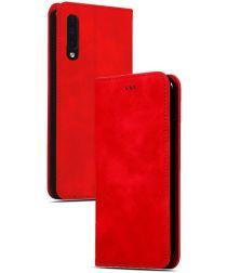 Samsung Galaxy A50 Book Case Hoesje Luxe Wallet Kunst Leer Rood