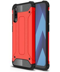 Samsung Galaxy A50 Hoesje Shock Proof Hybride Back Cover Rood