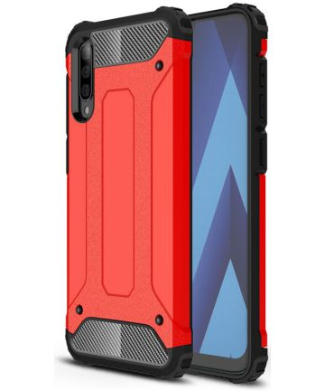 Samsung Galaxy A50 Hoesje Shock Proof Hybride Back Cover Rood Hoesjes