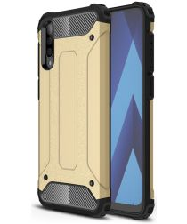 Samsung Galaxy A50 Hoesje Shock Proof Hybride Back Cover Goud