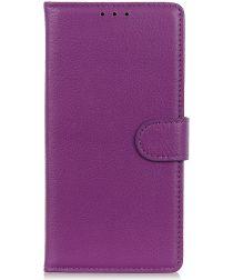 Samsung Galaxy A50 Book Case Hoesje Wallet Kunst Leer Paars