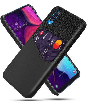 Samsung Galaxy A50 Hoesje Back Cover met Kaarthouder Zwart Hoesjes
