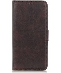 Samsung Galaxy A70 Portemonnee Hoesje met Standaard Bruin