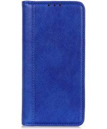 Samsung Galaxy A70 Splitleren Portemonnee Hoesje Blauw