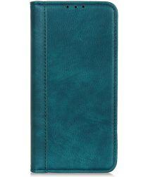 Samsung Galaxy A70 Splitleren Portemonnee Hoesje Groen