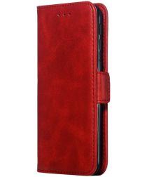 Samsung Galaxy A40 Portemonnee Hoesje met Standaard Rood