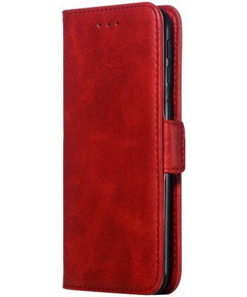 Samsung Galaxy A40 Portemonnee Hoesje met Standaard Rood Hoesjes
